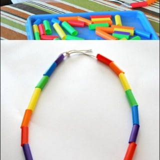 Fine Motor Straw Necklace