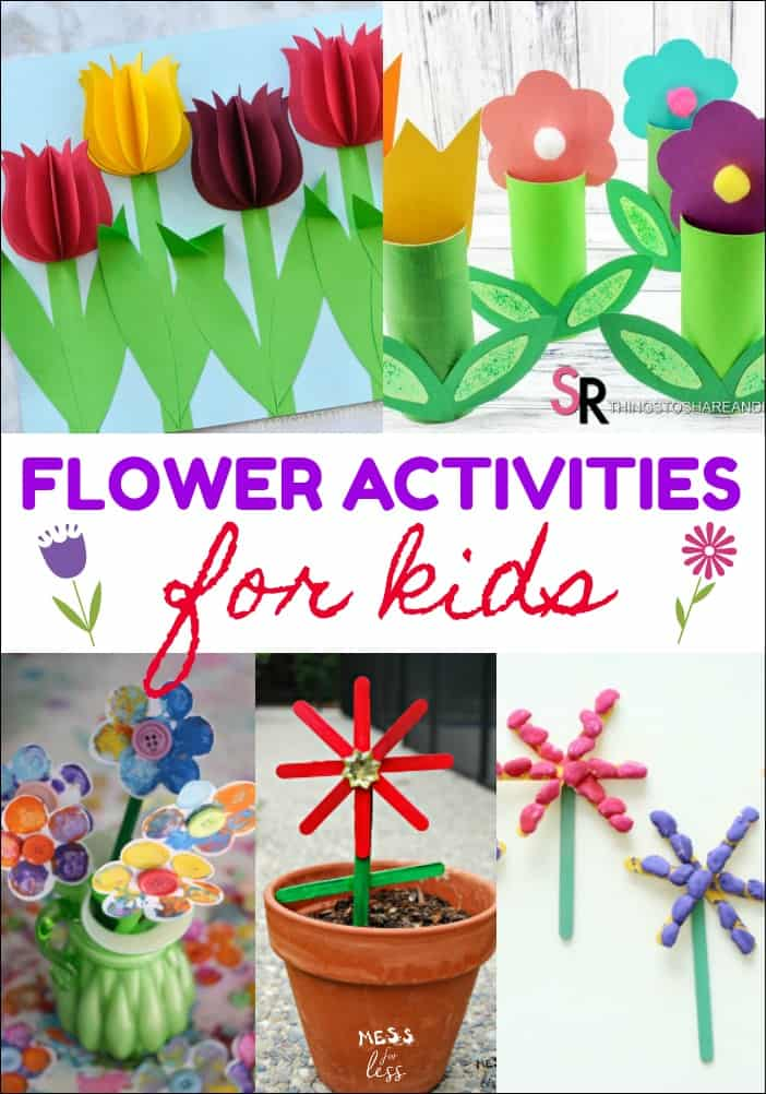 Spring is in the air. Here are some fun flower activities for kids that will get you all in the mood for the season. Many of these ideas make great gifts!