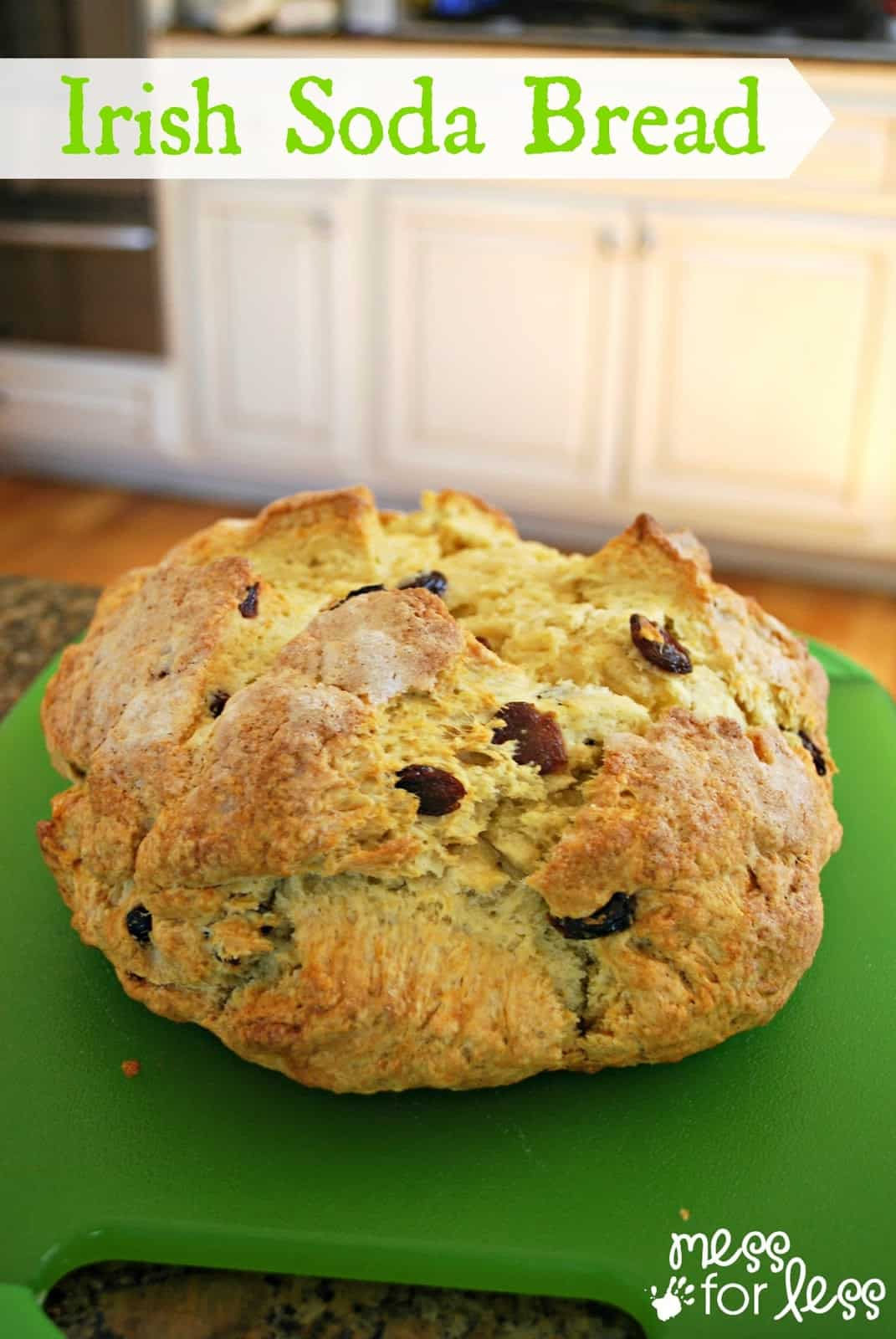 This Irish Soda Bread Recipe is perfect to make with kids as you get into the spirit of St. Patrick's Day.