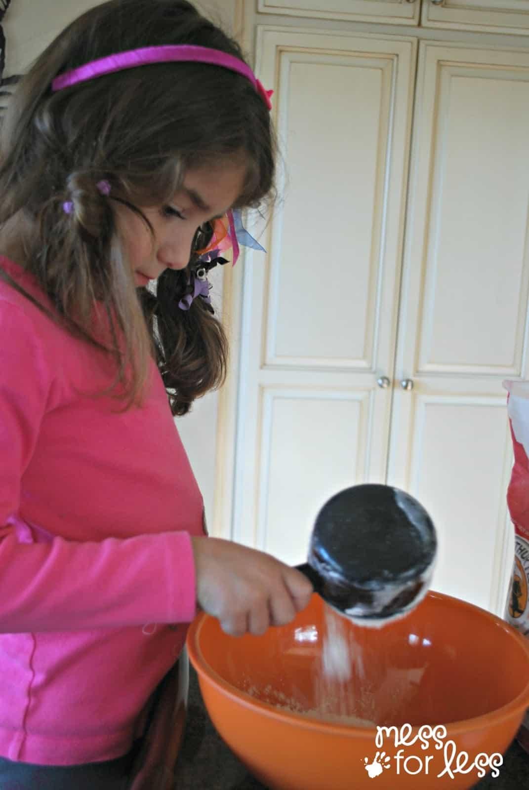 child making irish soda bread