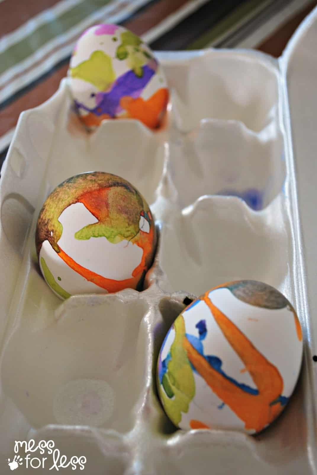 Liquid Watercolor Decorated Eggs