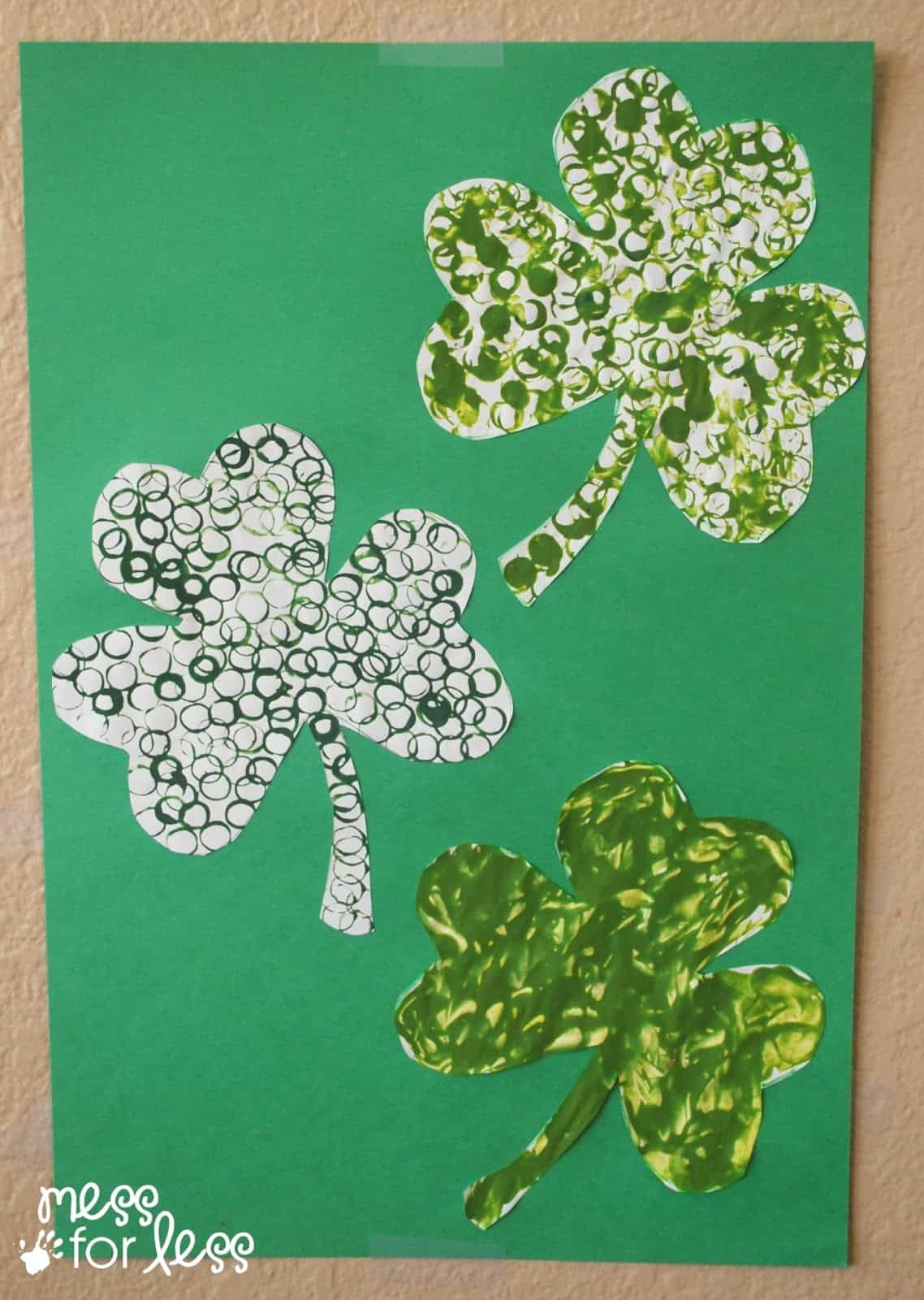 painted shamrocks