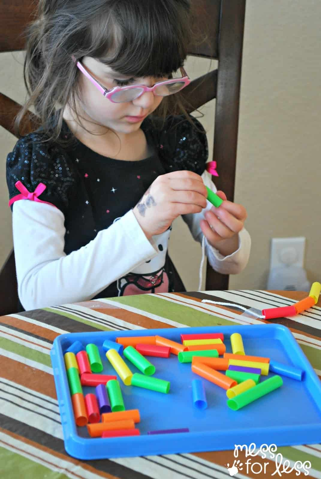 child working on fine motor skills