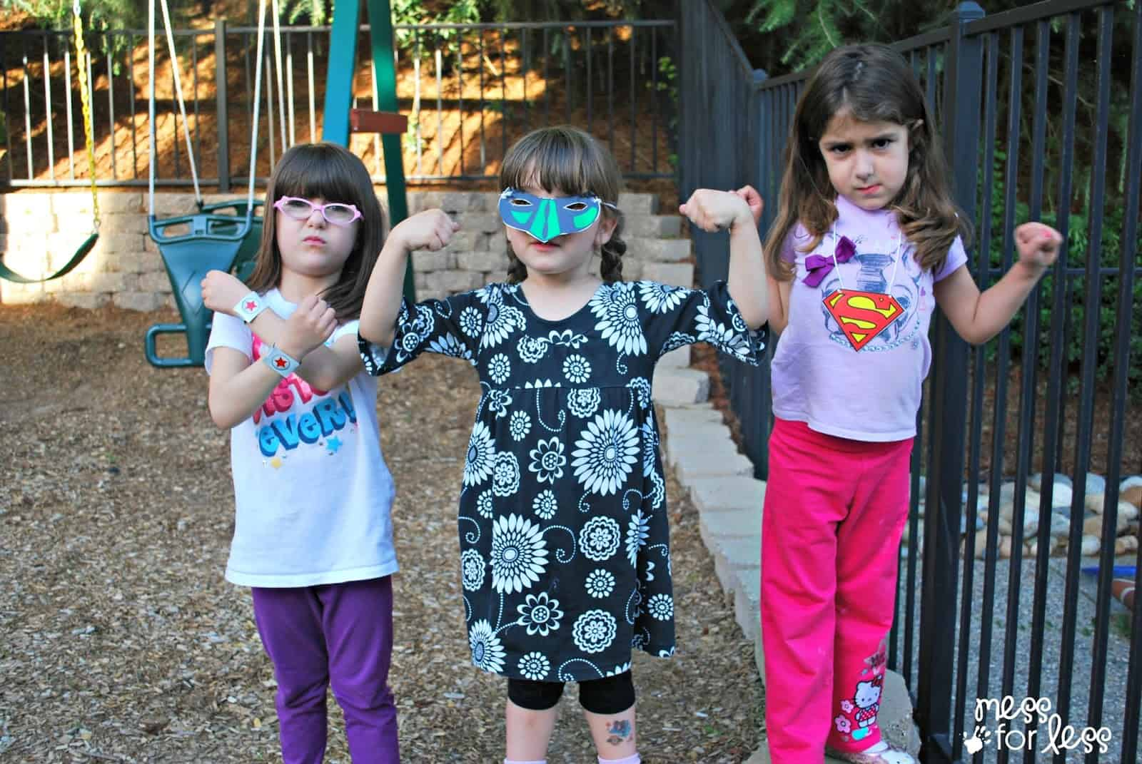 Kids pretend to be super heroes #sponsored #CerealHeroes