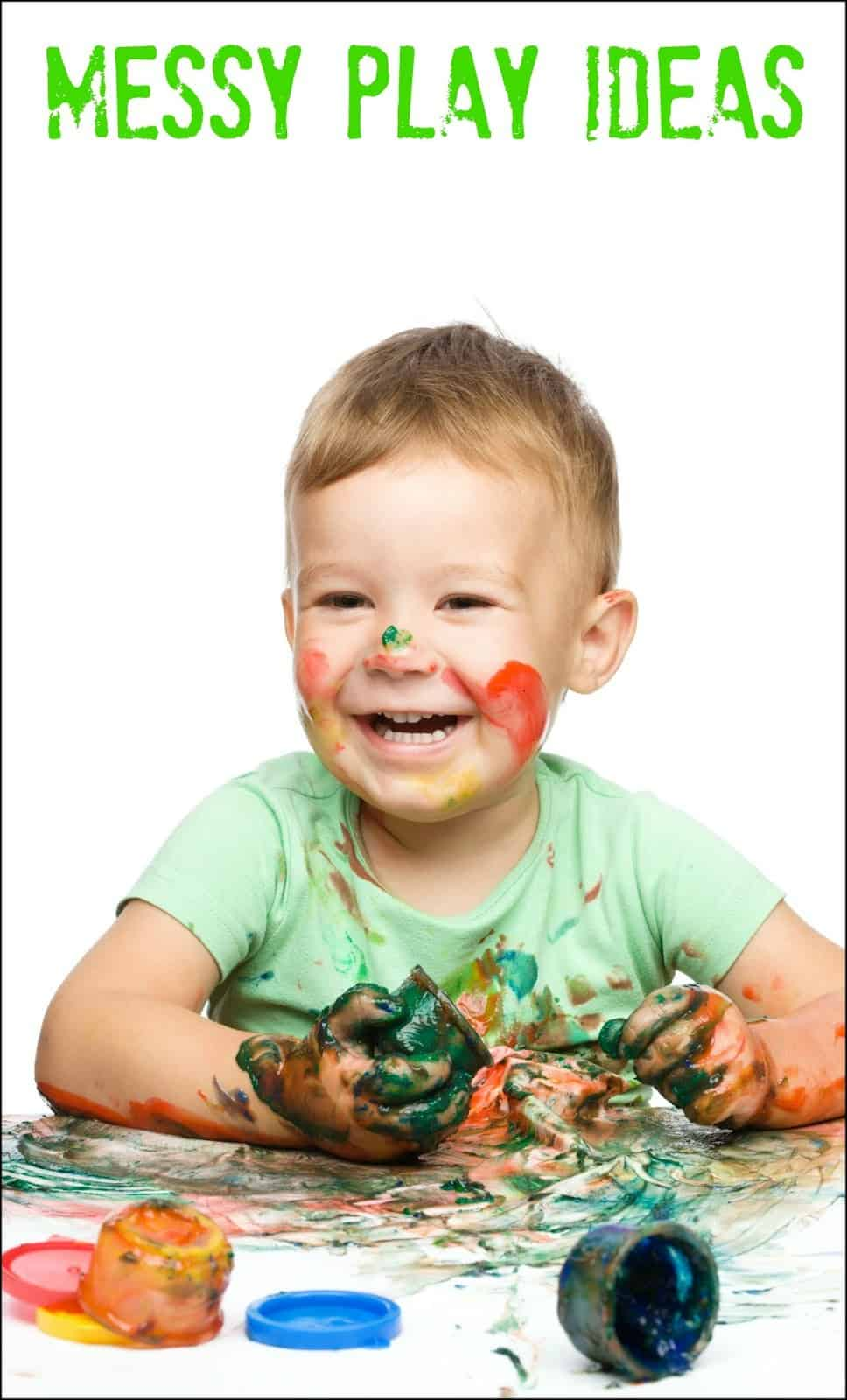 These are some of our favorite messy play ideas for kids. Find out why messy play is developmentally important and how to have some messy fun!