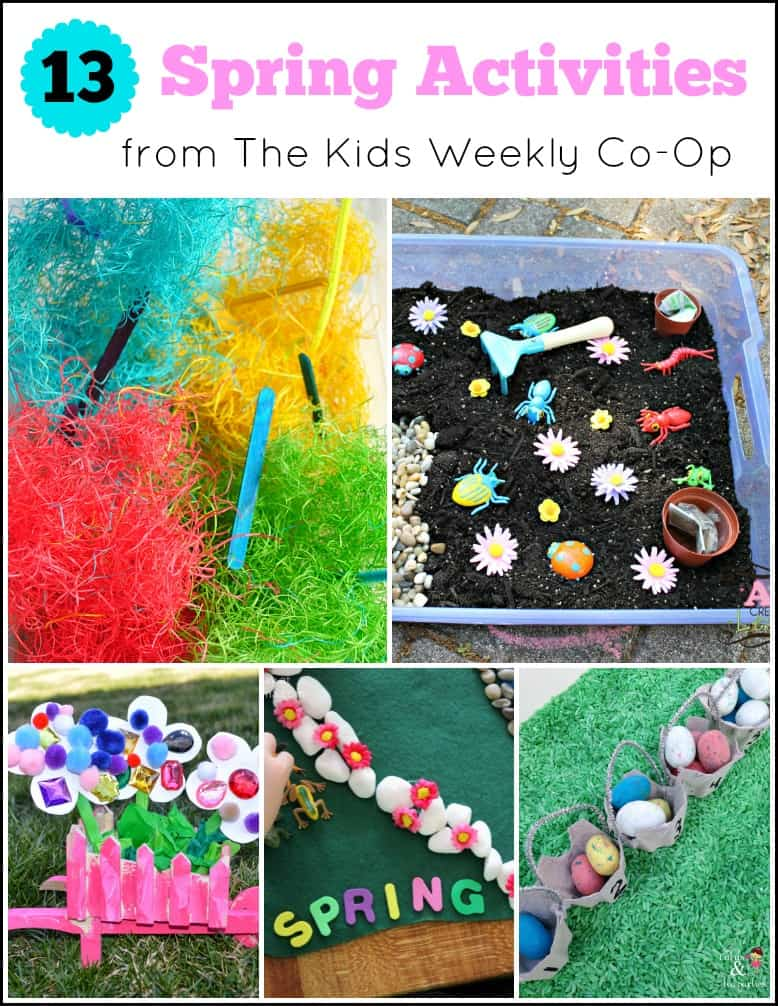 13 Spring Activities for Kids from The Kids Weekly Co-Op. A lot of ideas for the warmer weather.