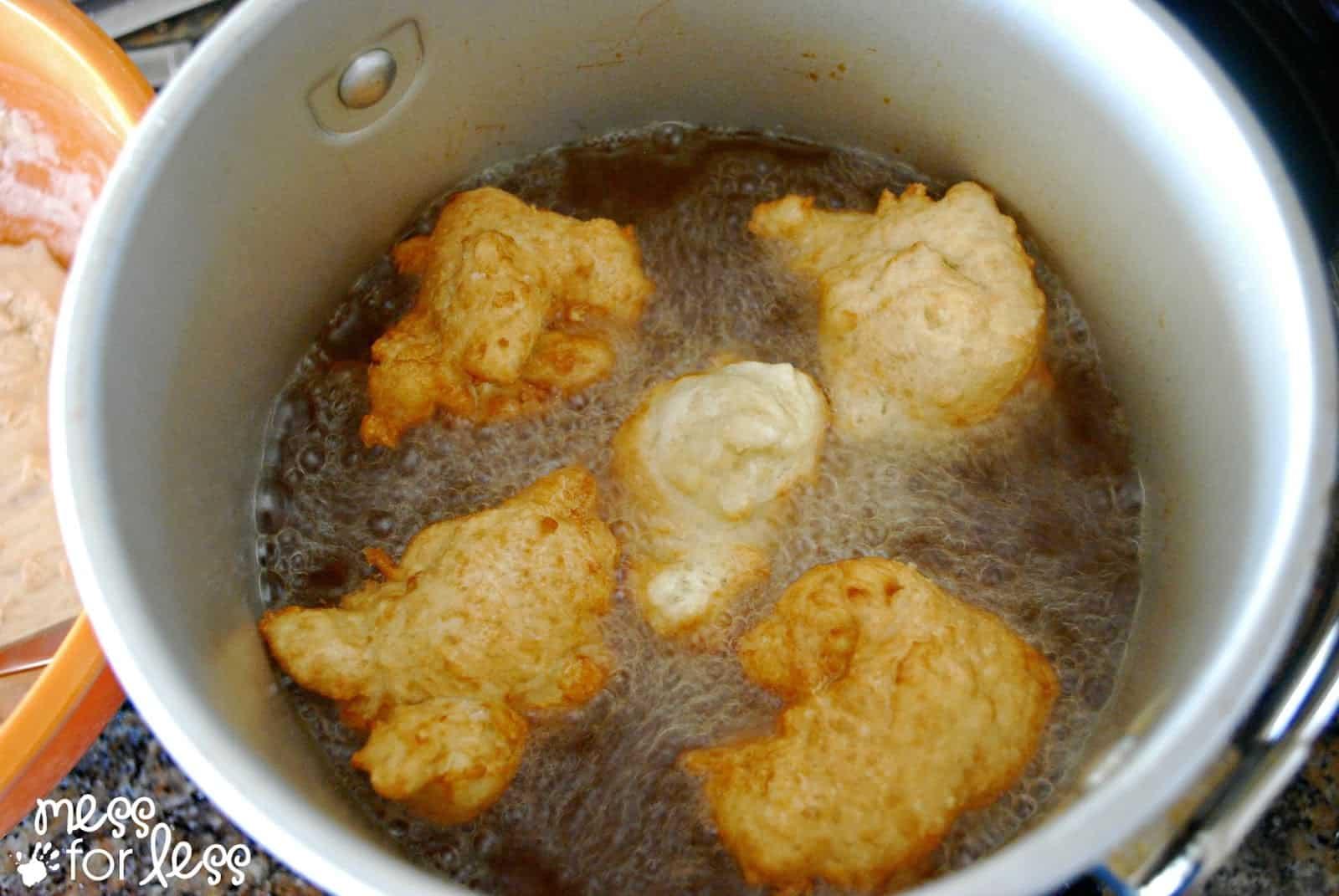 frying zeppoles