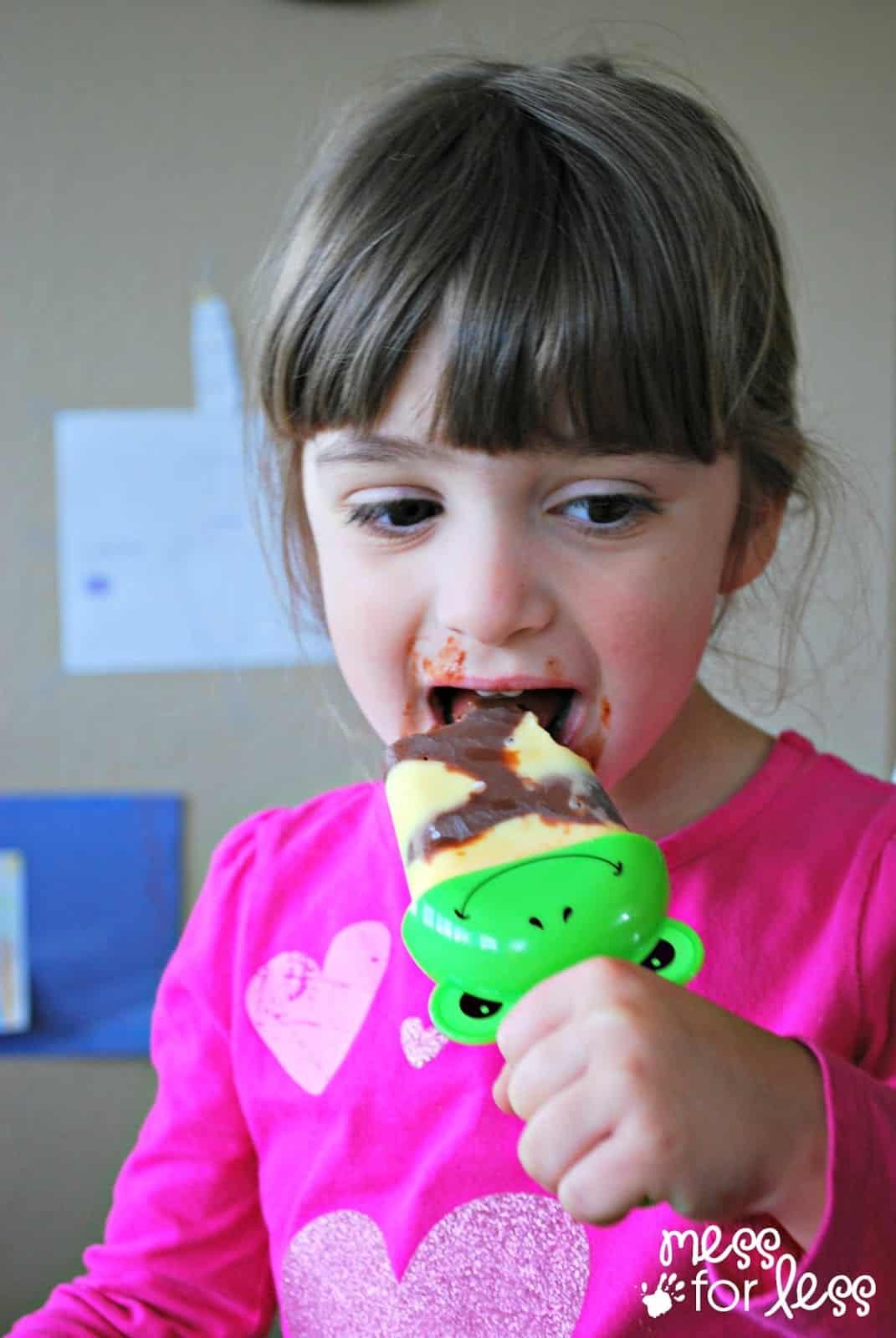Pudding pop recipe #showusyourmess #PMedia #ad