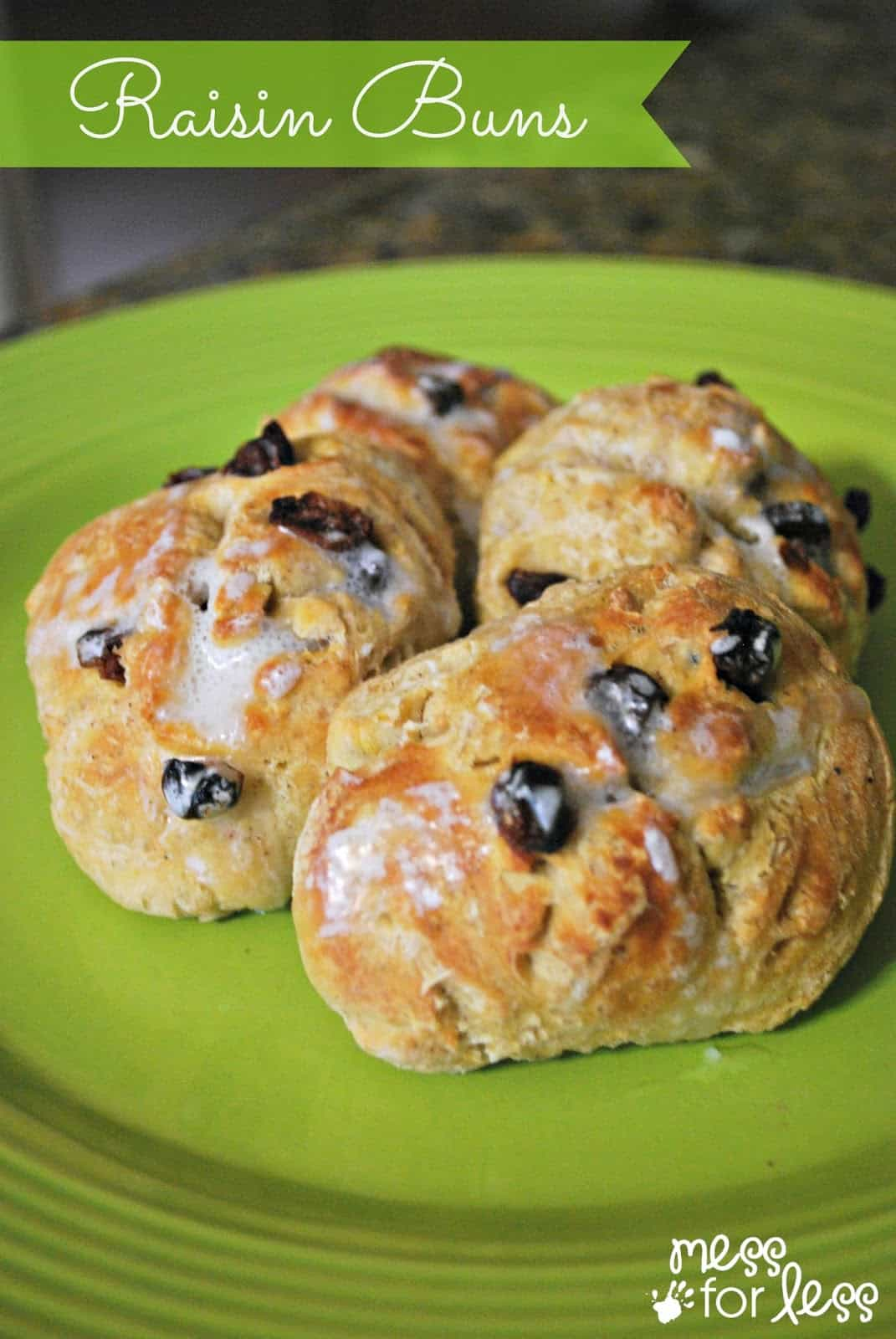 Raisin Buns - These tasty buns are a great twist on the traditional dinner roll.