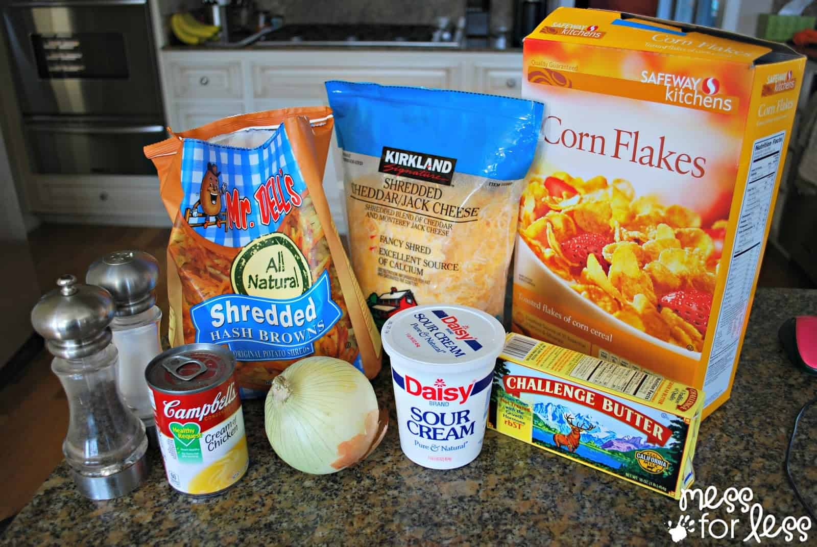 ingredients for hash brown casserole