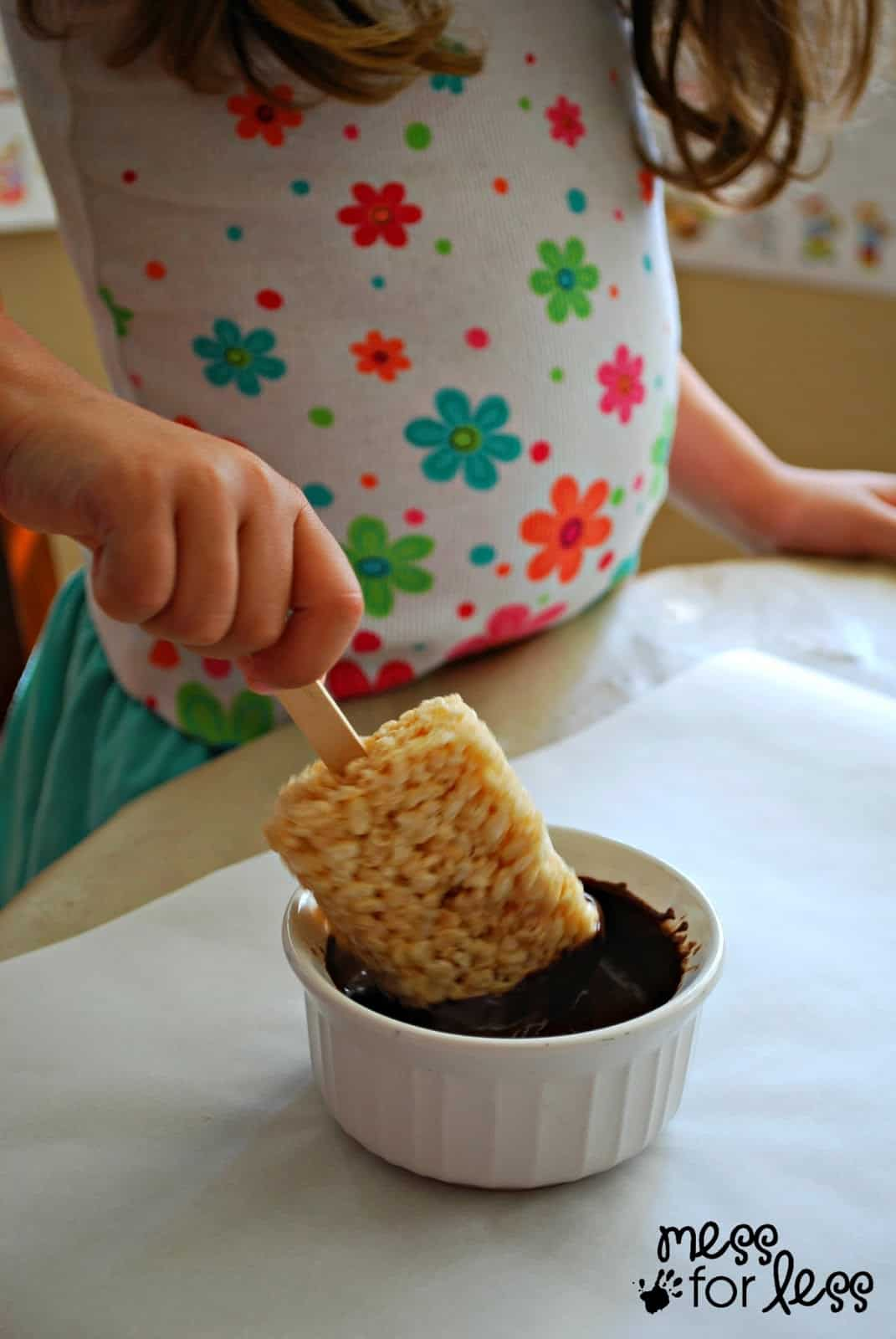 Home handmade candies chocolate dipped rice krispy treats 2 - Chocolate Dipped Rice Krispies Treats Ad Easytomake