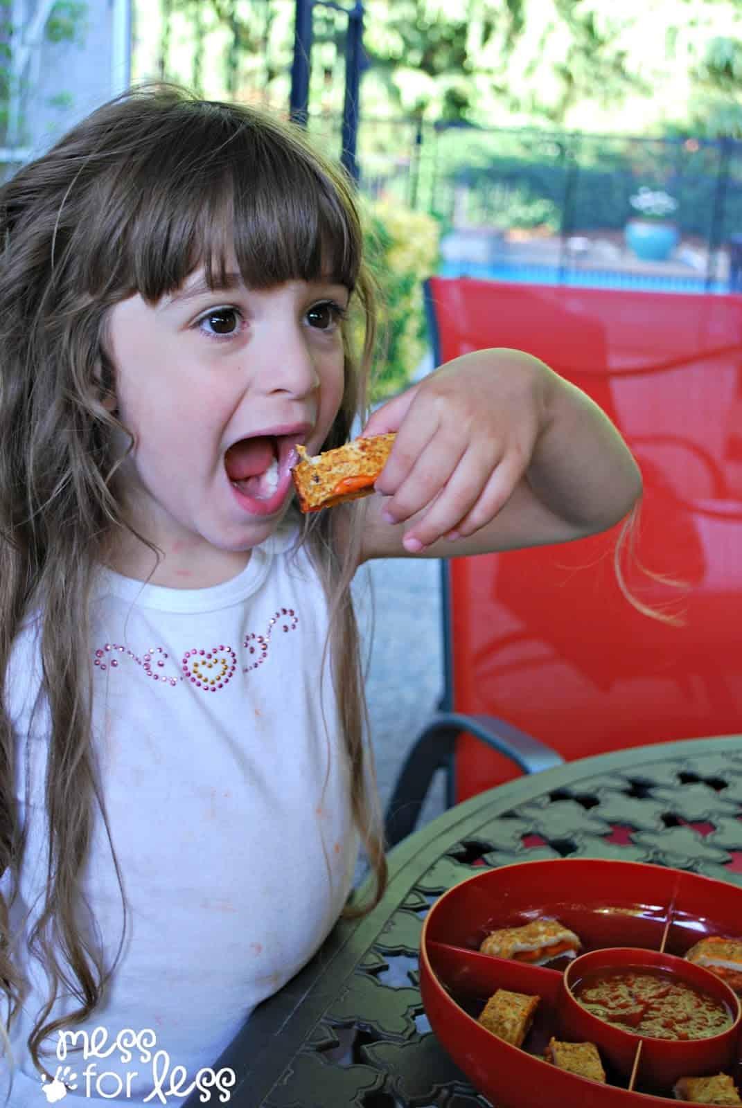 child eating Hot Pockets #shop #SummerGoodies #cbias