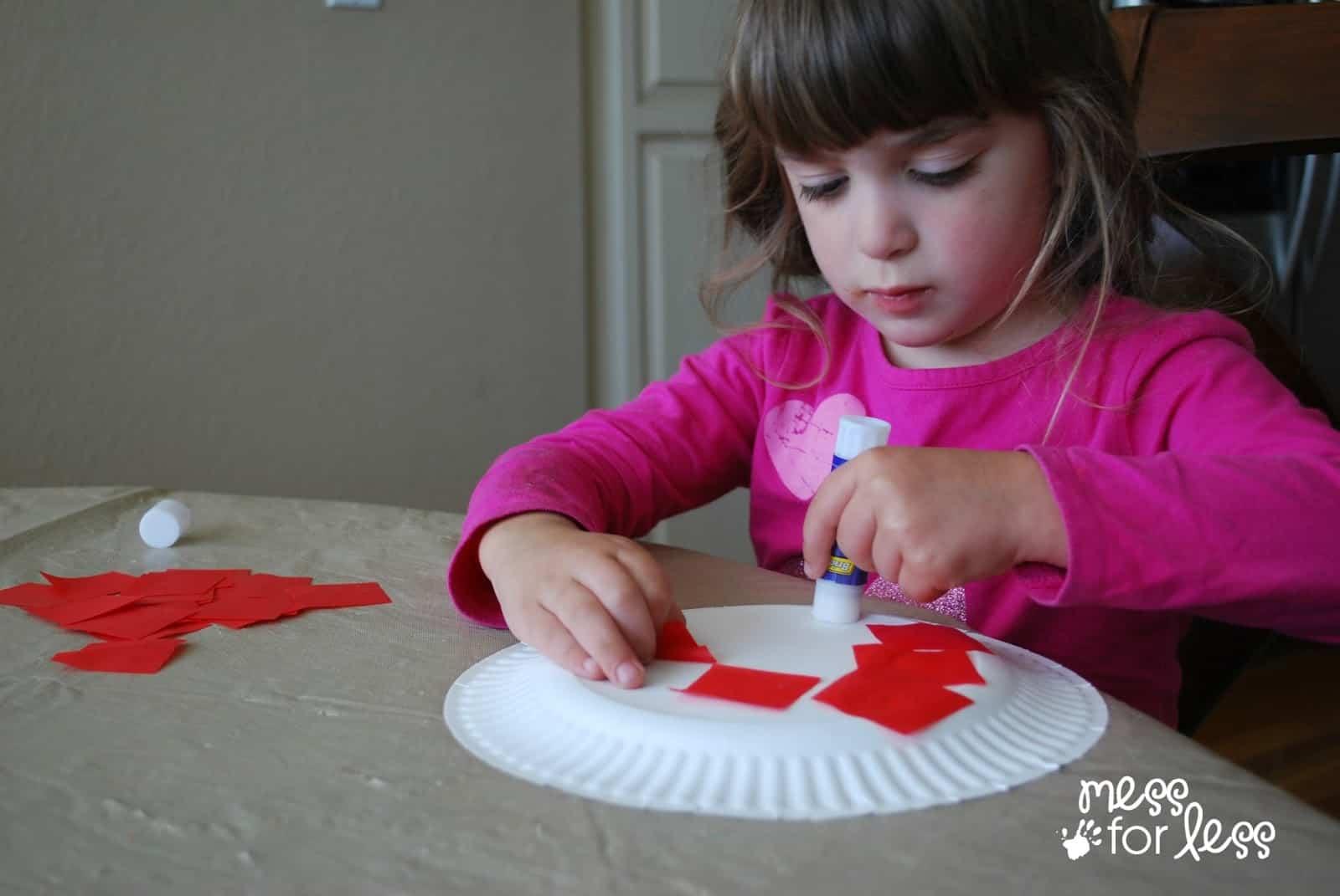 child making ladybug