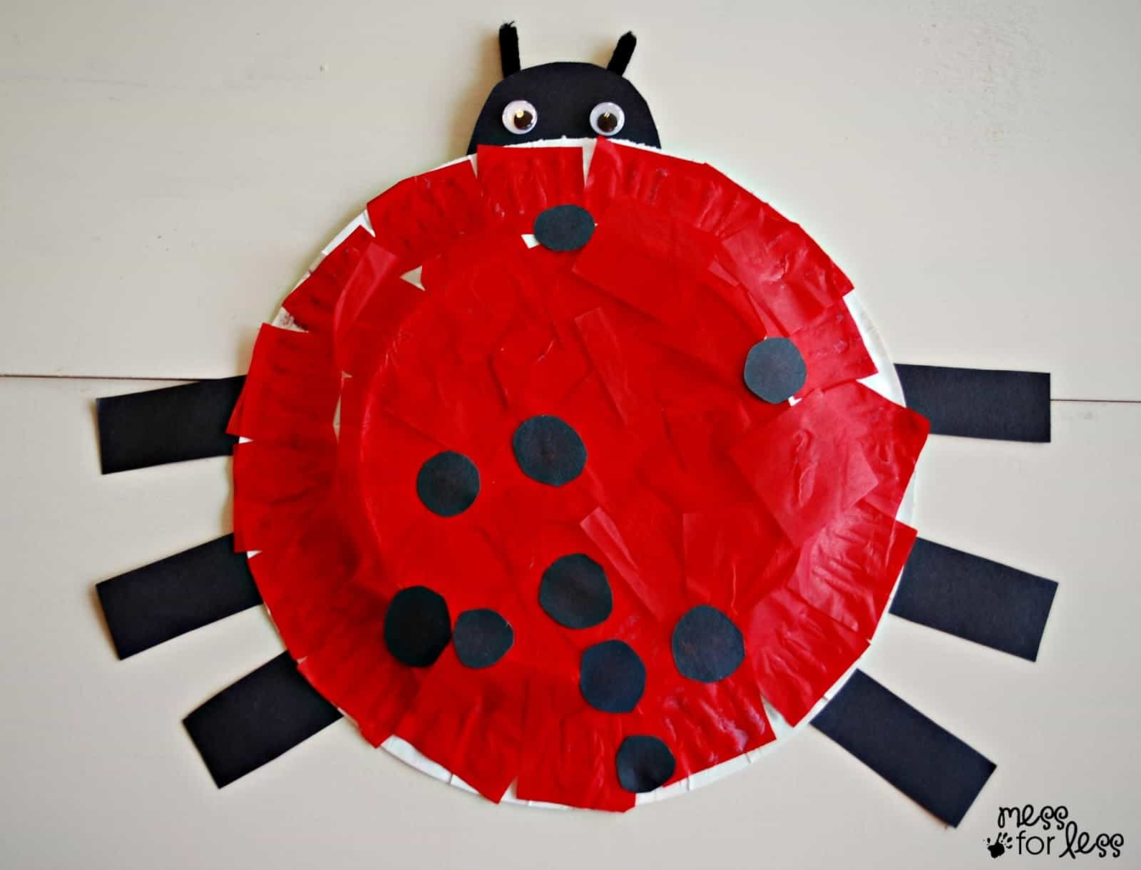 Paper Plate Ladybug Crafts for kids