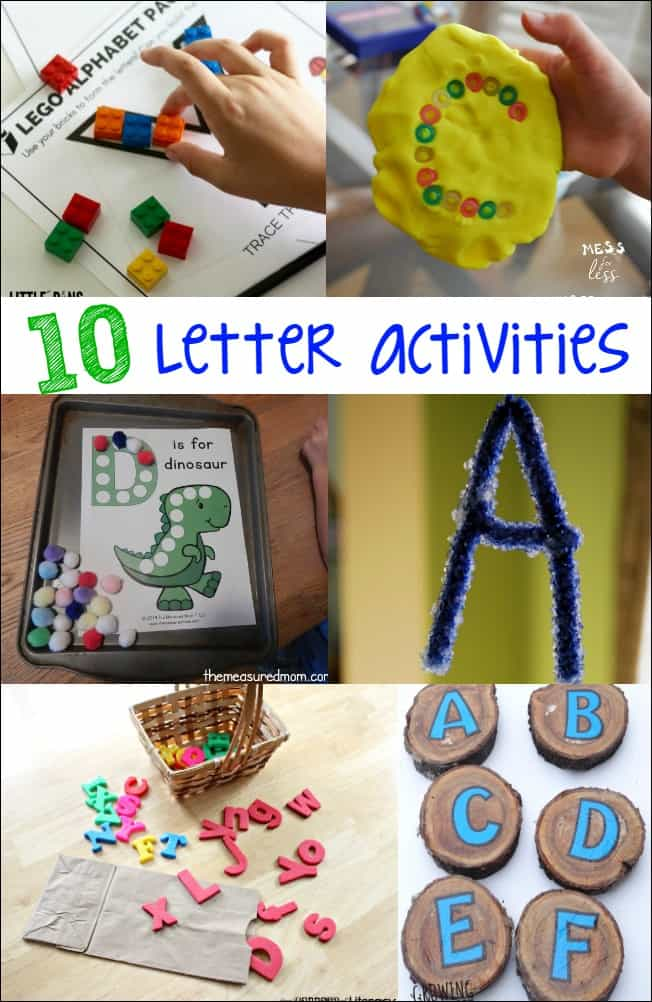 These fun letter activities will help kids with letter identification and learning in a hands on way.