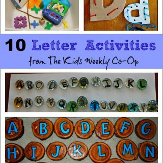 10 Letter Activities from The Kids Weekly Co-Op