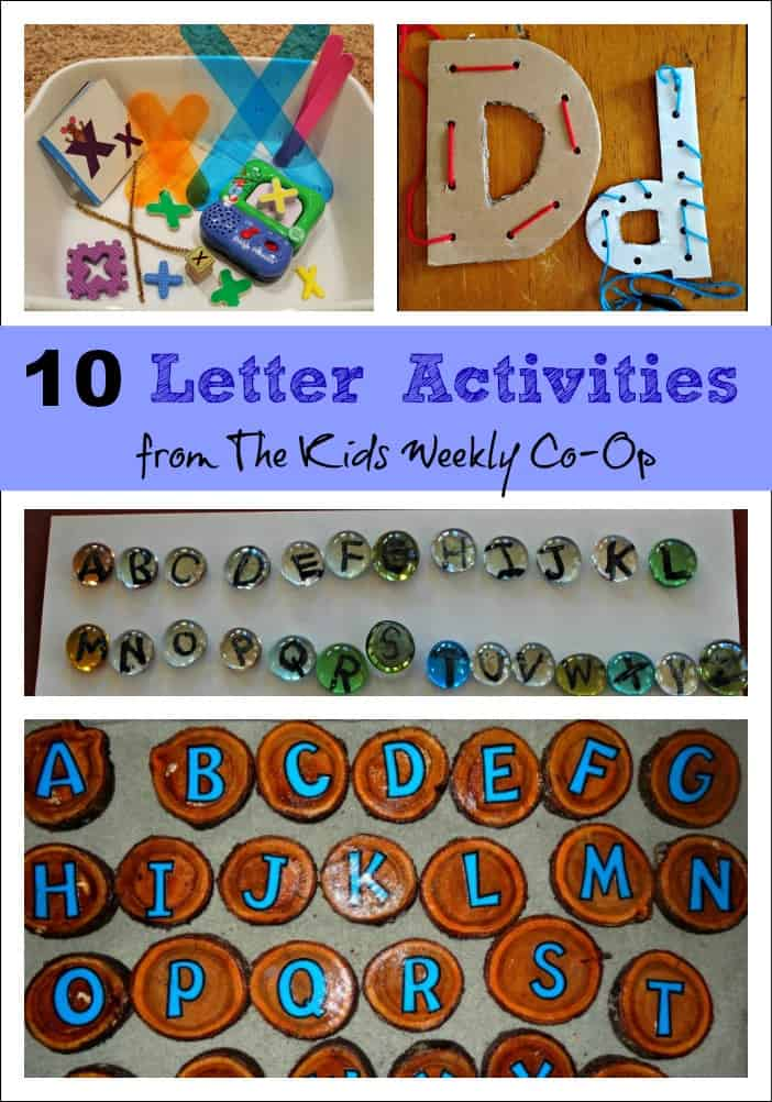 10 Letter Activities to help kids learn and have fun from The Kids Weekly Co-Op