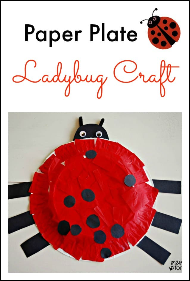 Paper Plate Ladybug Craft - This is fun to make and even more fun for kids  sc 1 st  Mess for Less & Paper Plate Ladybug Craft - Mess for Less