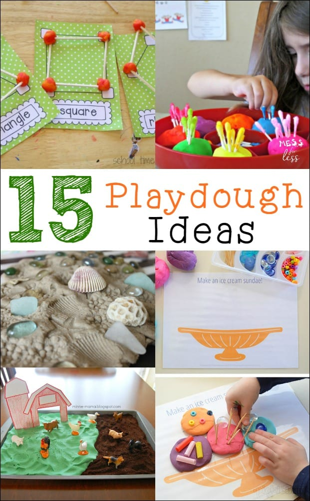 Are your kids tired of playing with ordinary playdough? Well, these playdough play ideas will give your child a chance to explore their creative side while using playdough as a prop in their imaginative play.