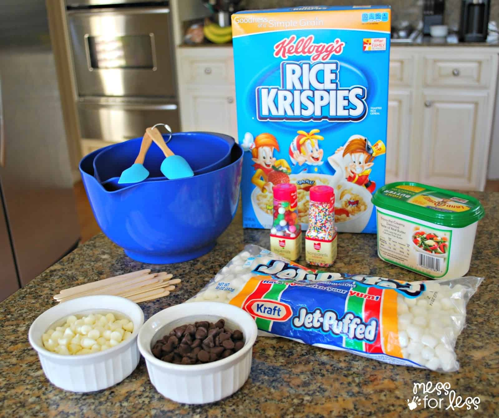 Ingredients for Rice Krispies Treats #ad #Easytomake