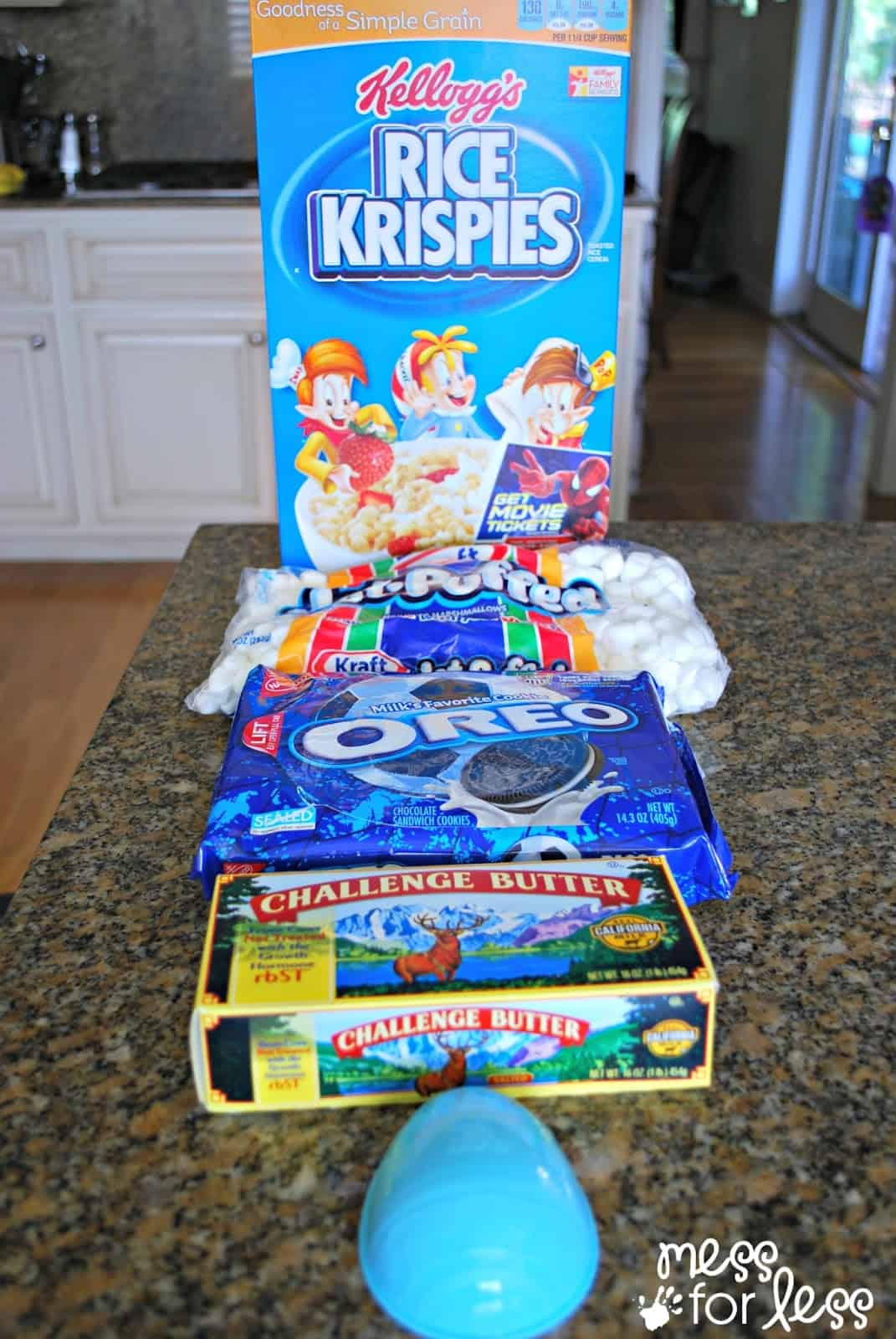 Ingredients for rice krispie treats