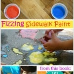 Fizzing Sidewalk Paint from 101 Kids Activities