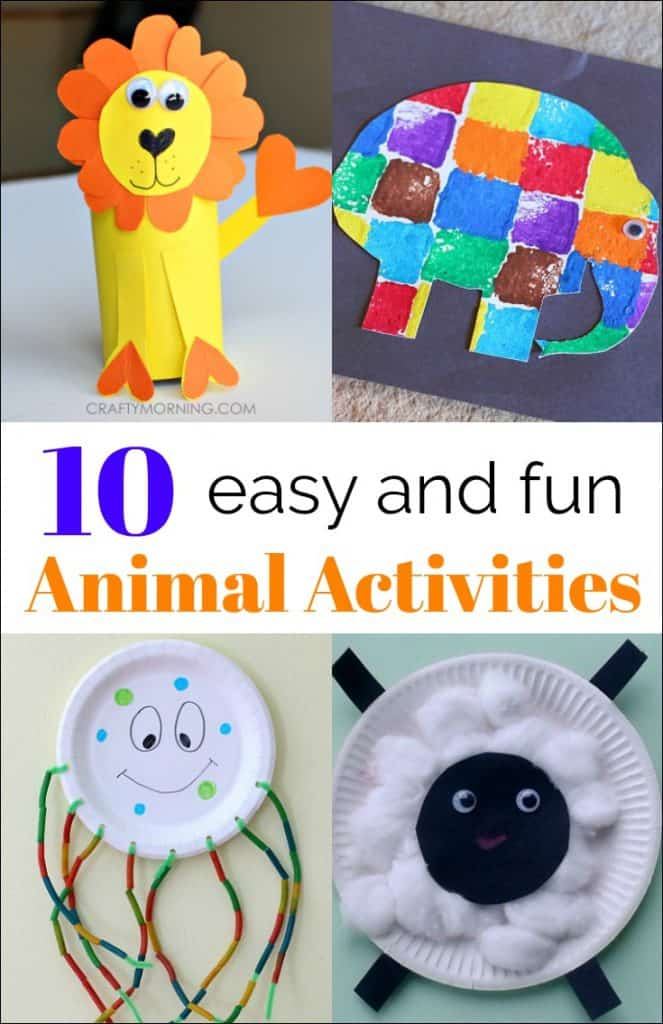 10 Simple Animal Activities From The Kids Weekly Co Op Mess For Less