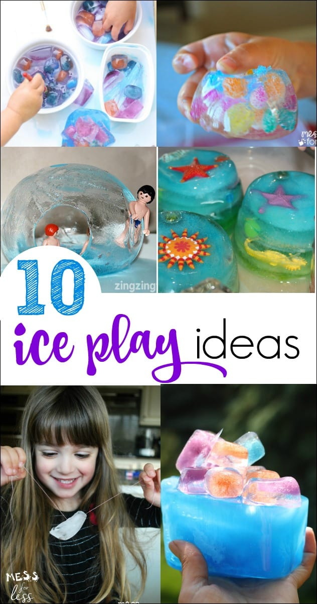 These ice play activities are the perfect way for kids to beat the heat. Love this collections of easy kids activities. Kept my little ones busy for hours!