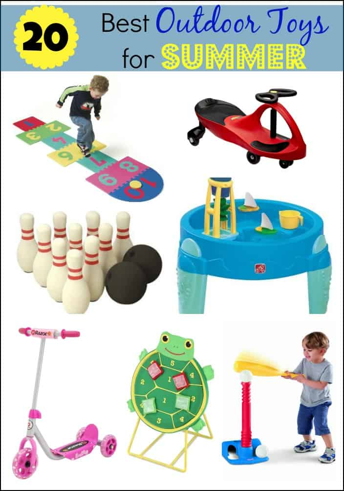 Toys For 20 : The best outdoor toys for summer mess less