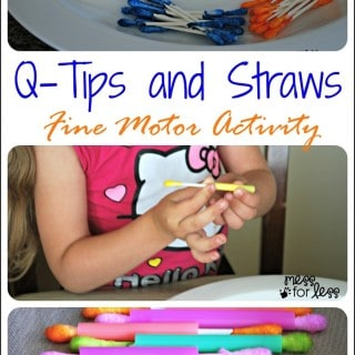 Q-Tips and Straws – Fine Motor Skills Activity