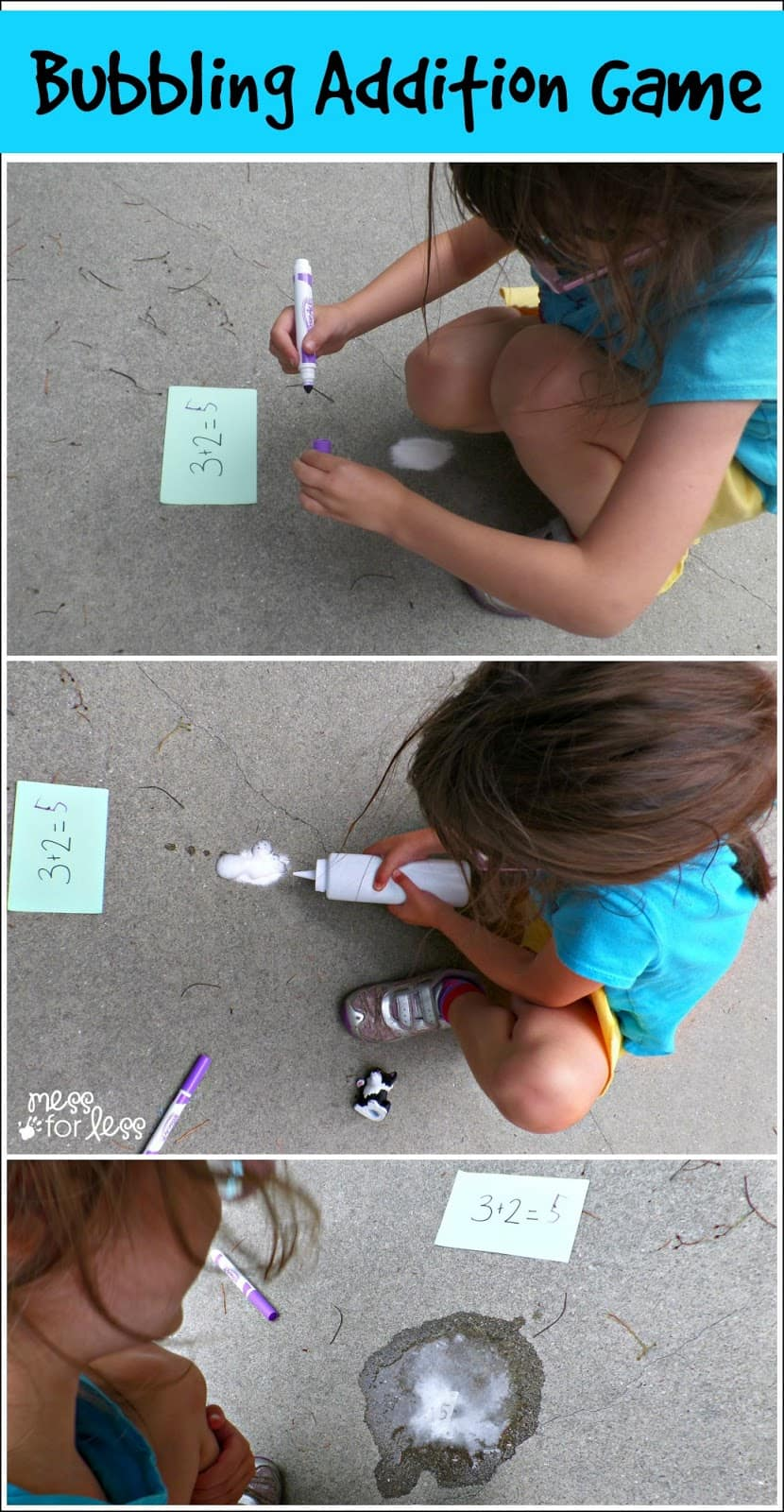 Bubbling Addition - This Kindergarten Math Game will help kids learn and review addition facts in a fun hands on way.