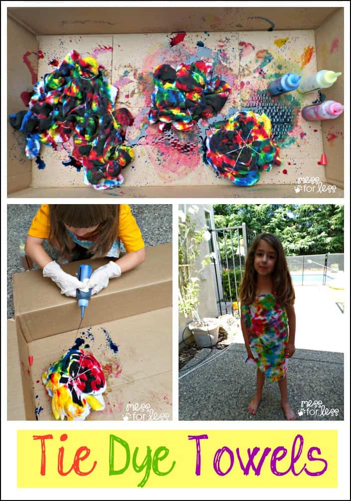 Making Tie Dye Towels for Summer Fun AD