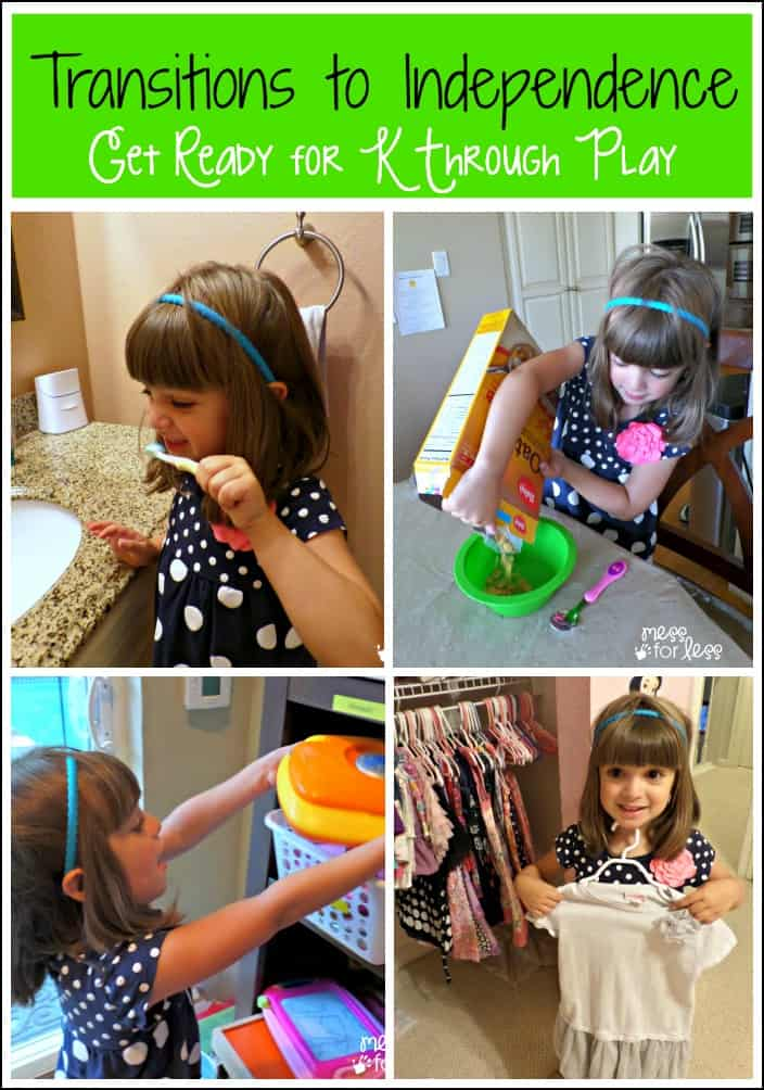 Transitions to Independence for Kids - Get Ready for K Through Play : Small ways to help kids grow independent in many areas of their lives.