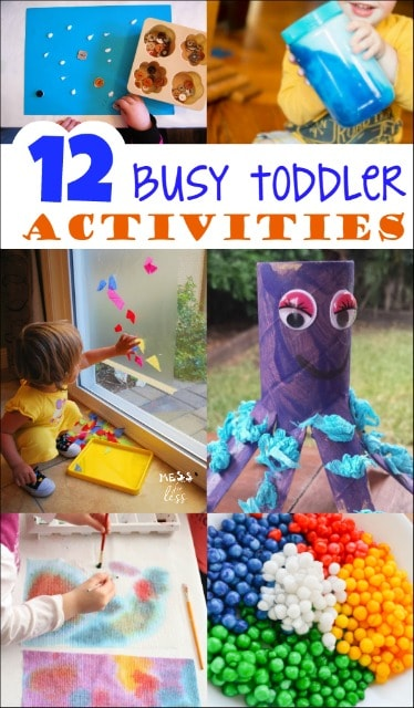 These busy toddler activities kept my toddler busy and having fun all day long.