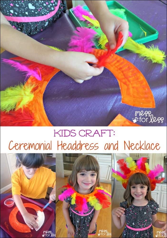 Kids Craft: Ceremonial Headdress and Necklace Inspired by Fun at #GalileoCamps #sponsored