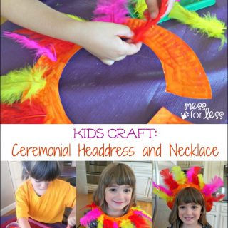 Kids Craft: Ceremonial Headdress and Necklace Inspired by Fun at #GalileoCamps