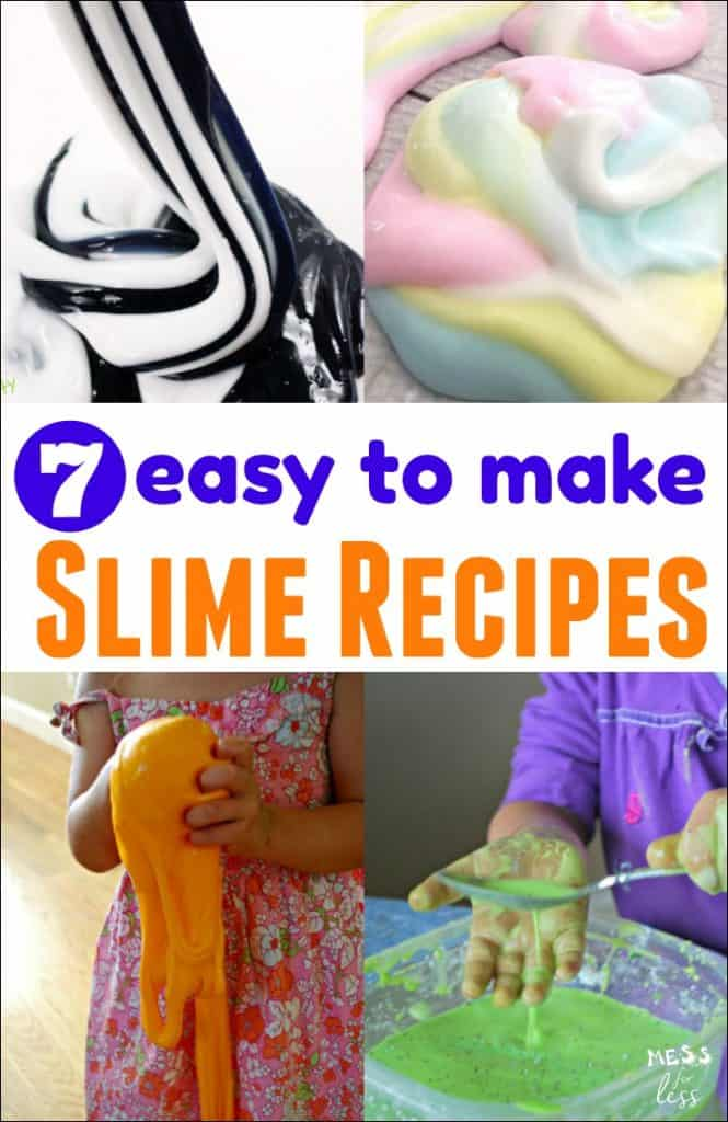 7 Easy Slime Recipes - Try these Easy Slime Recipes with your child and let the slimy sensory fun begin!