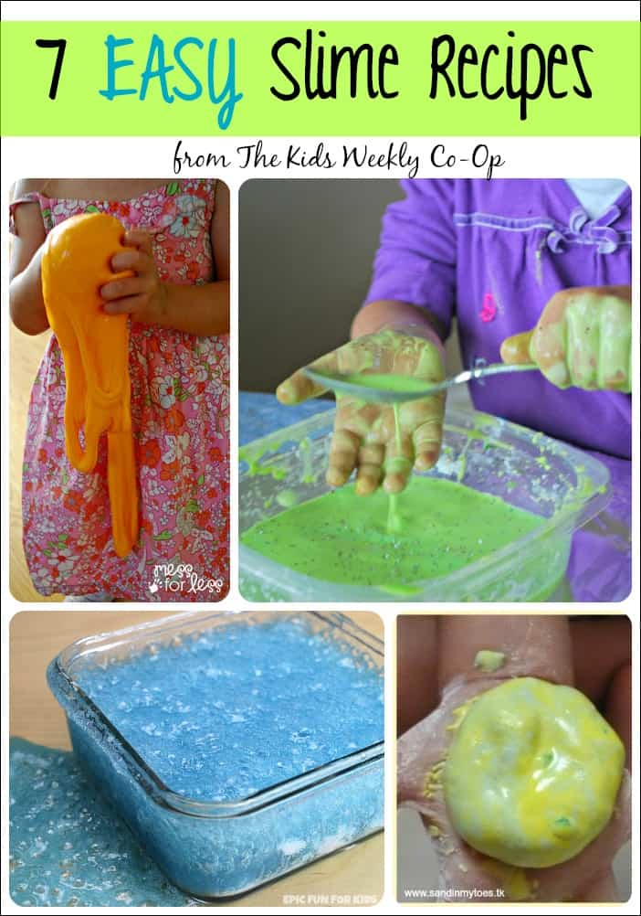 7 Easy Slime Recipes From The Kids Weekly Co Op Mess For