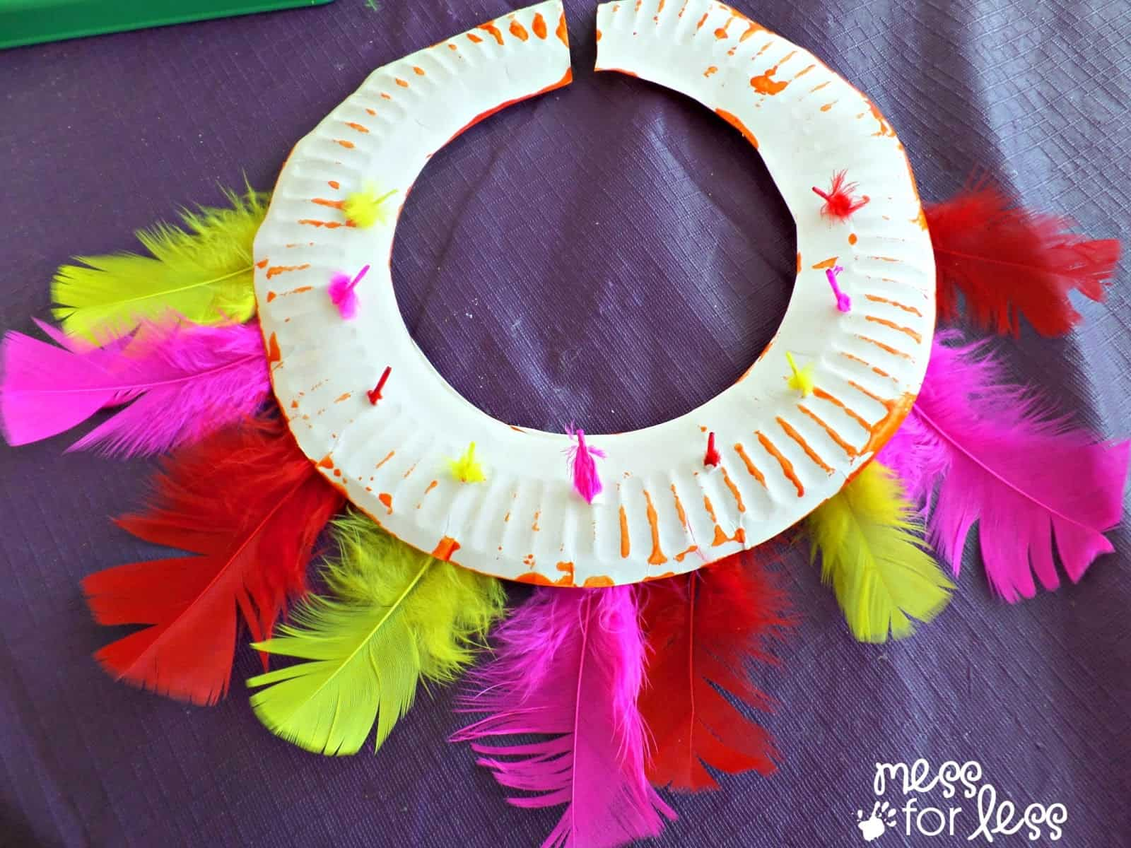 Kids Craft Ceremonial Headdress And Necklace Inspired By Fun At