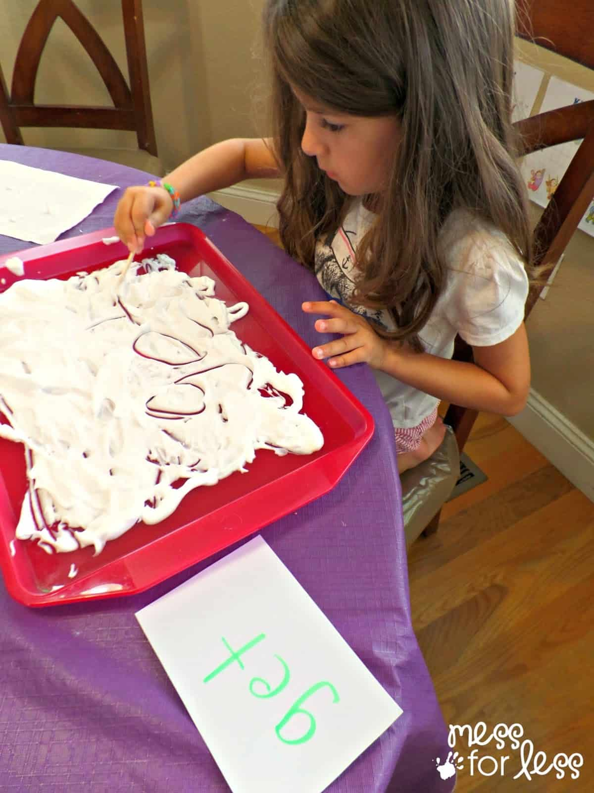 shaving cream writing