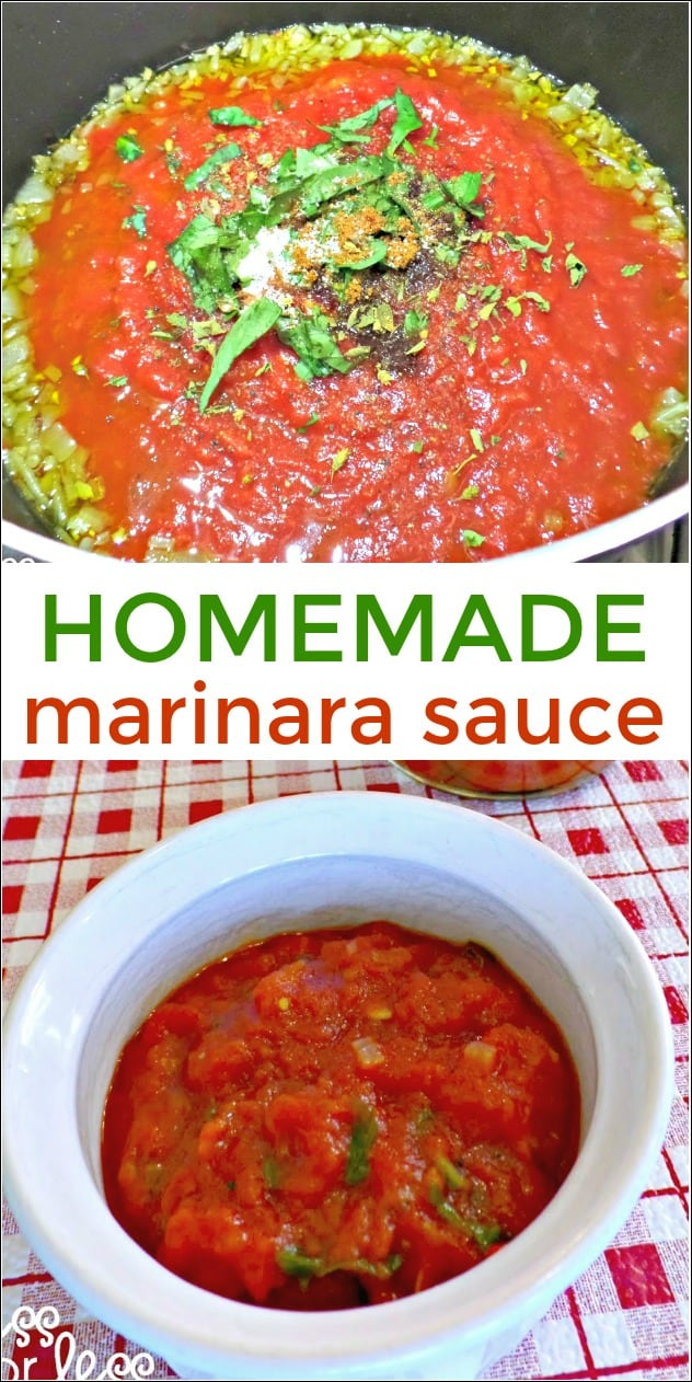 Homemade Marinara Sauce Recipe - this simple recipe will have you swearing off the store bought stuff! sponsored