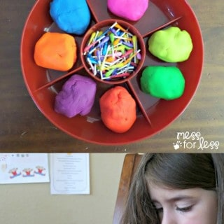 Fine Motor Activity with Playdough and Q-Tips