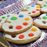 Paint Palette Cookies for an Art Party – Food Fun Friday