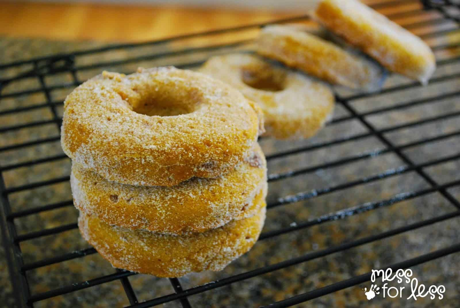 cinnamon sugar topped donuts