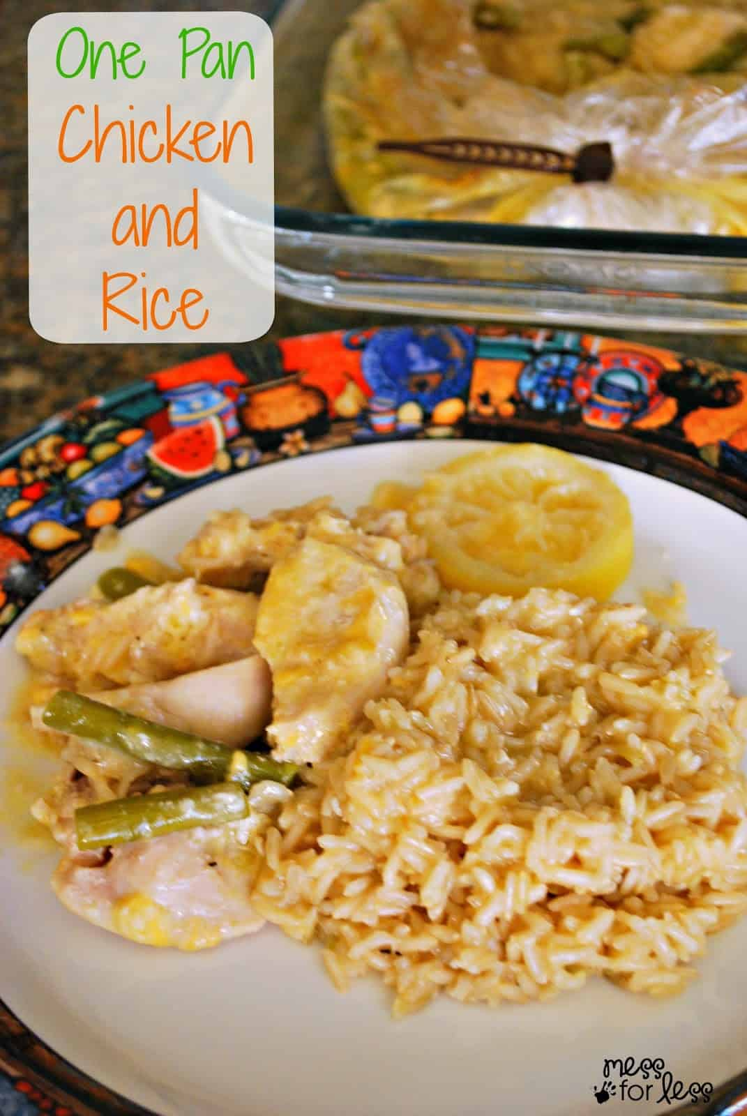 One Pan Chicken and Rice Dinner - Mess for Less