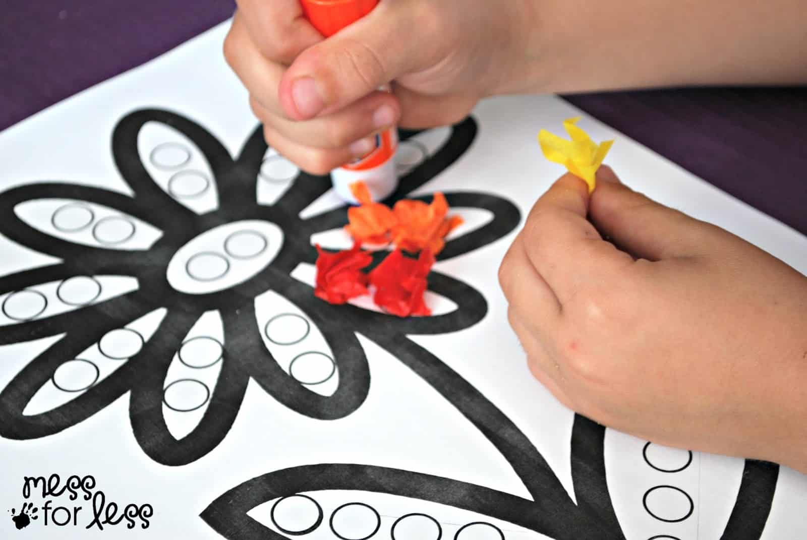 tissue paper art projects Easy art project for kids : just add water art  here are some art projects for kids we have done in the pastwe  i have used art tissue paper for this.