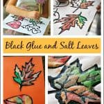 Fall Craft – Black Glue and Salt Leaves