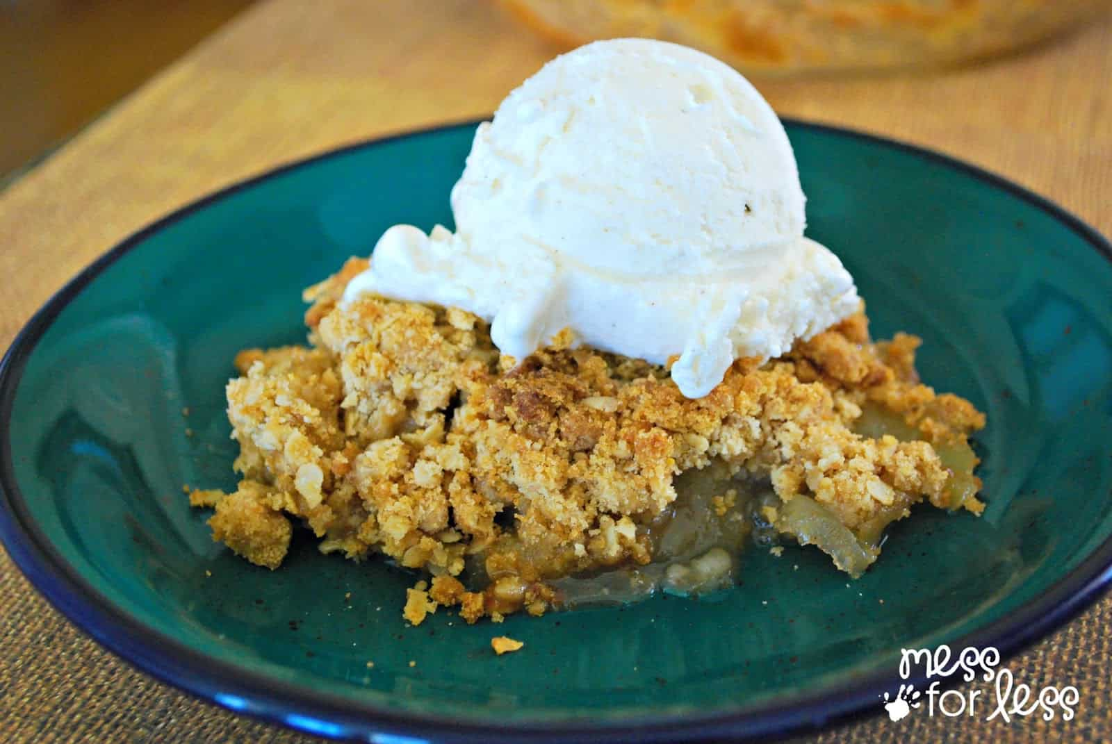 Easy Apple Crisp with Ice Cream