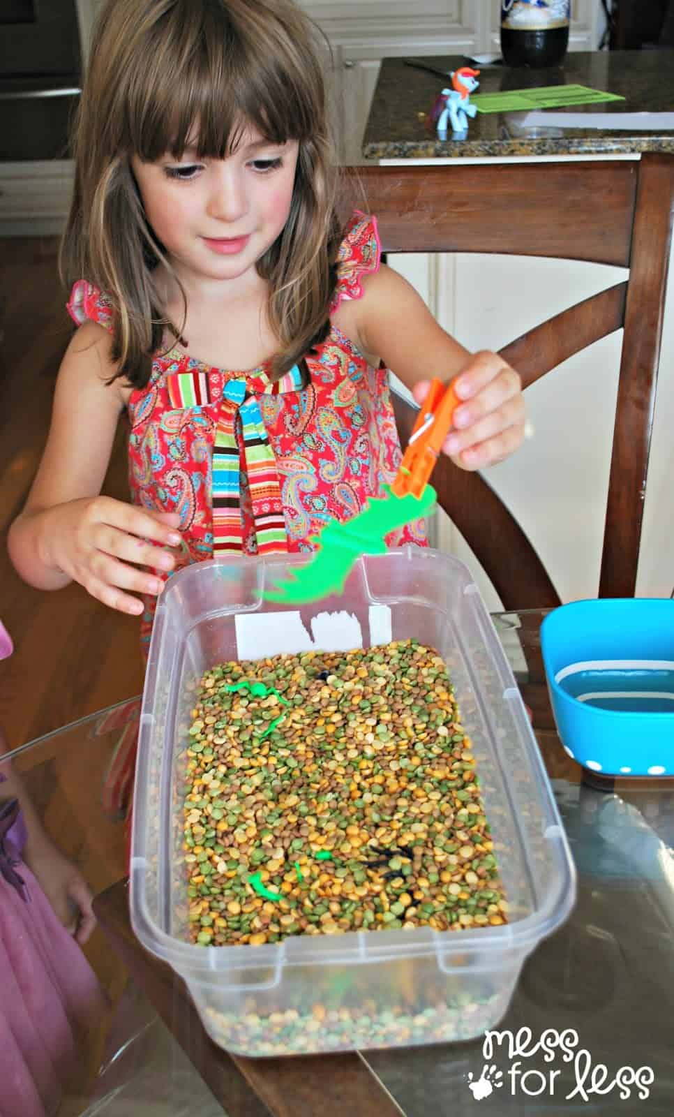 fine motor skills with a clothespin
