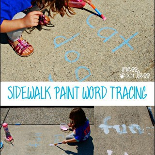 Sidewalk Paint Word Tracing Game
